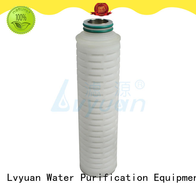 Lvyuan ptfe pleated filter cartridge suppliers replacement for industry