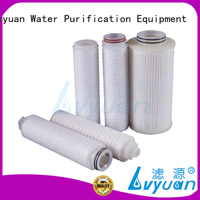 Lvyuan pes pleated polyester filter cartridge for sea water desalination