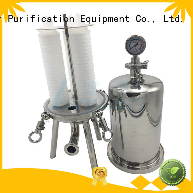 Lvyuan efficient stainless water filter housing manufacturer for food and beverage
