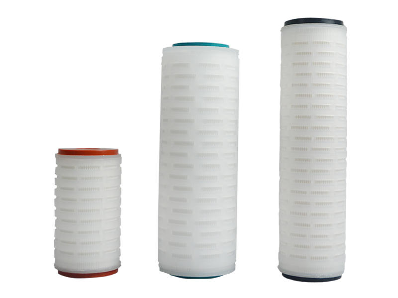 Lvyuan ptfe pleated filter cartridge with stainless steel for liquids sterile filtration-3