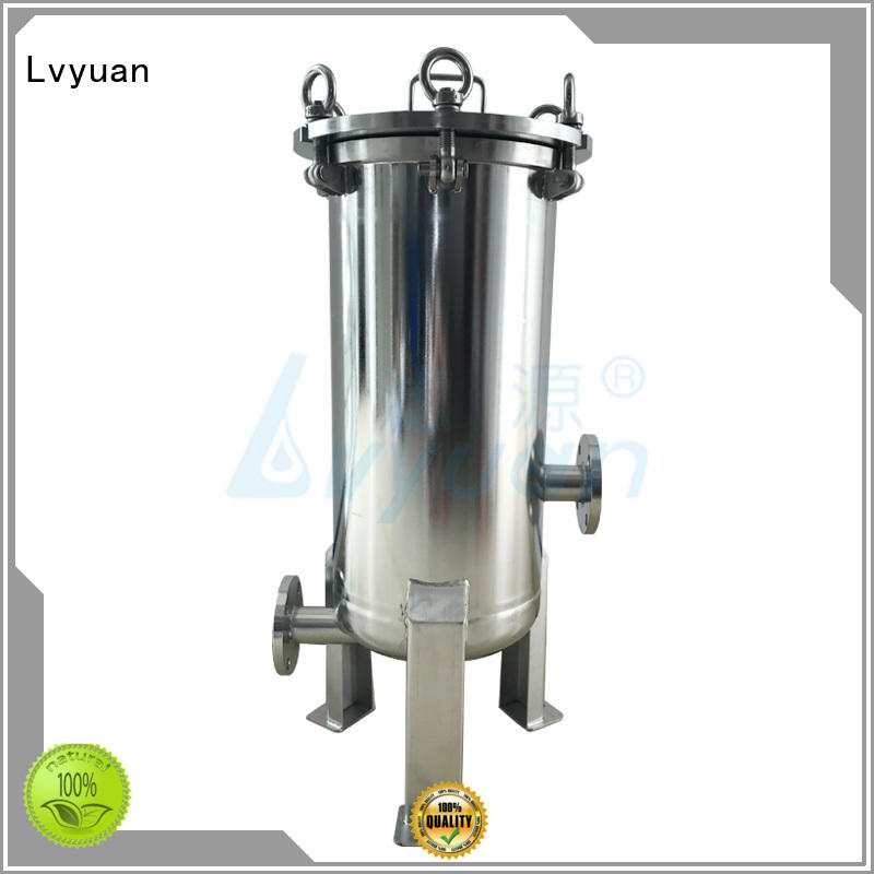 professional ss filter housing with fin end cap for sea water treatment
