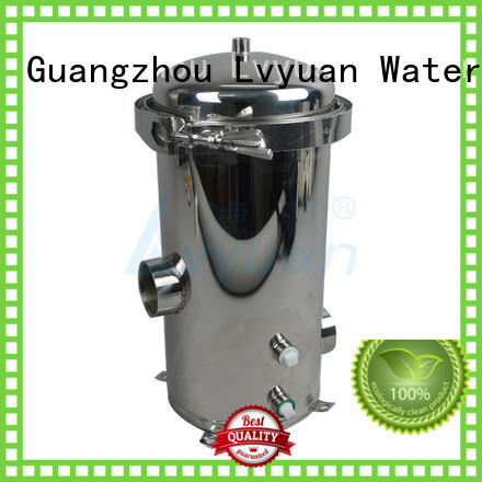 Lvyuan stainless steel cartridge filter housing housing for sea water treatment