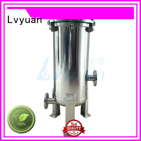 Lvyuan best stainless steel bag filter housing with fin end cap for industry