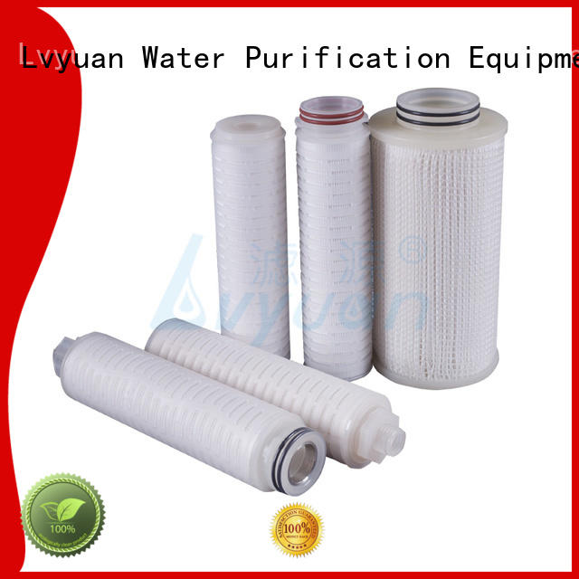 ptfe pleated filter element replacement for liquids sterile filtration