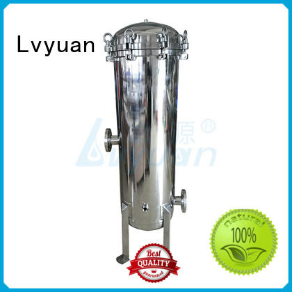 Lvyuan best stainless steel filter housing with core for sea water treatment