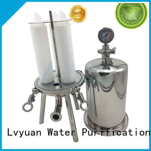 porous ss cartridge filter housing with core for sea water treatment