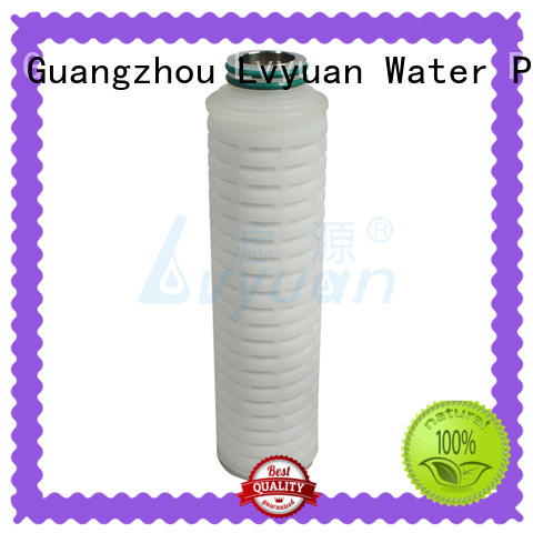 Lvyuan membrane pleated polyester filter cartridge for liquids sterile filtration