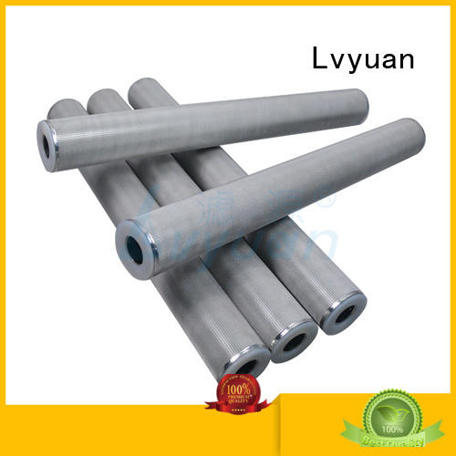 Lvyuan activated carbon sintered filter cartridge supplier for food and beverage