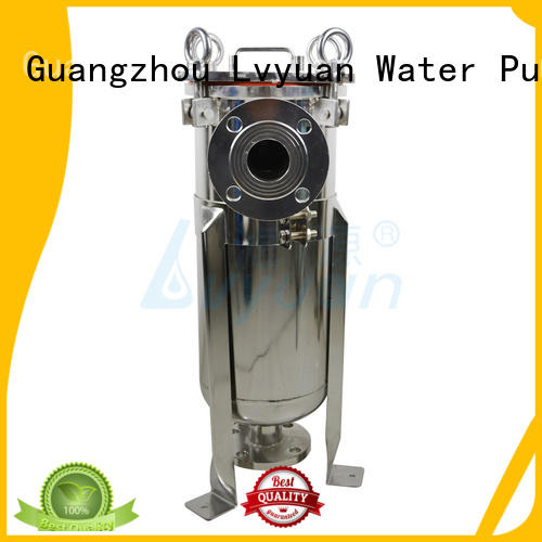 Lvyuan stainless steel bag filter housing with core for sea water desalination