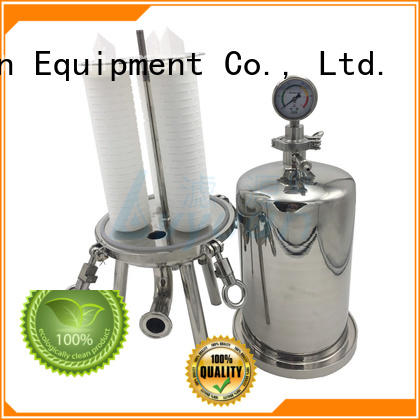 professional stainless water filter housing with fin end cap for sea water desalination