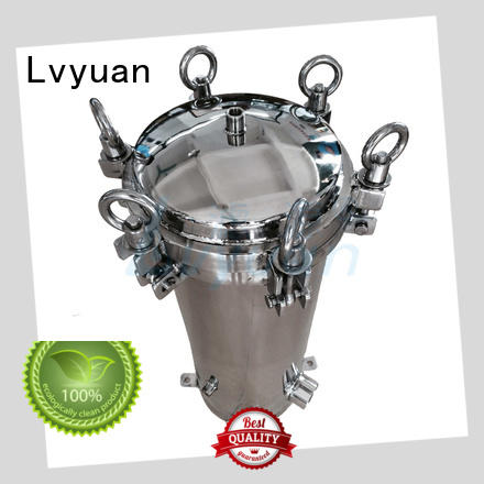 professional stainless steel filter housing with fin end cap for industry