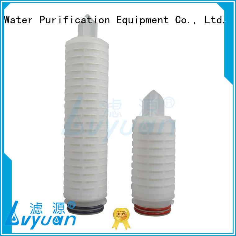 Lvyuan pleated filter cartridge with stainless steel for diagnostics