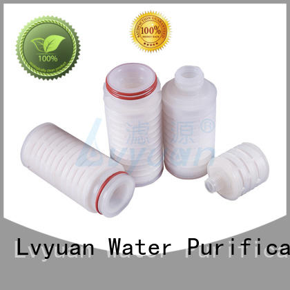 latest pleated polyester filter cartridge with stainless steel for liquids sterile filtration Lvyuan