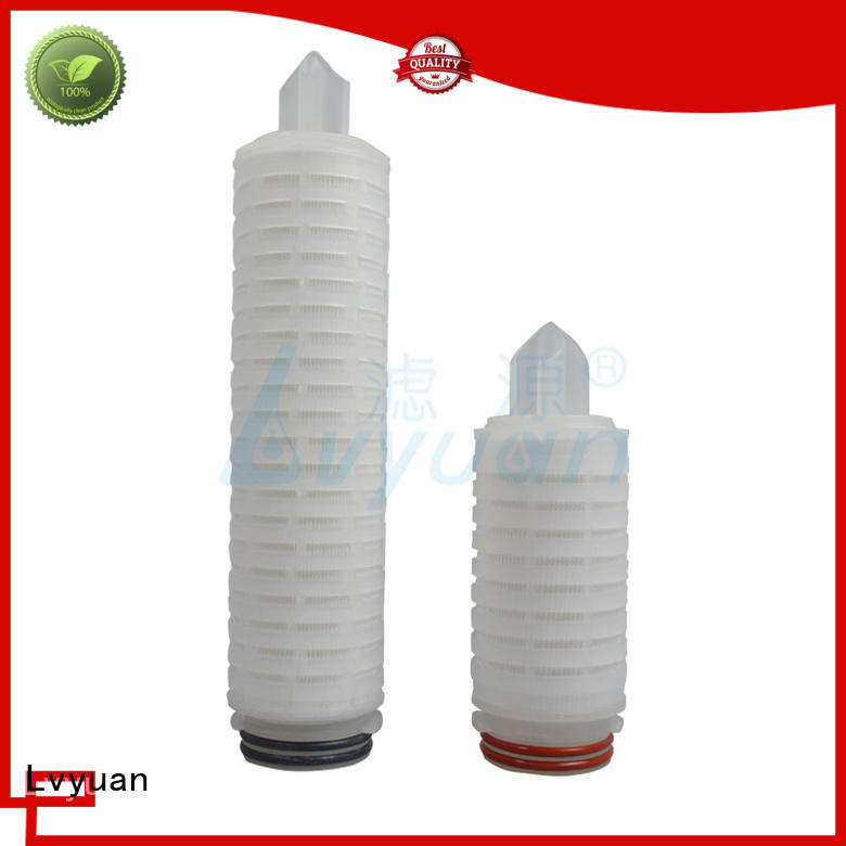 ptfe pleated filter element with stainless steel for diagnostics