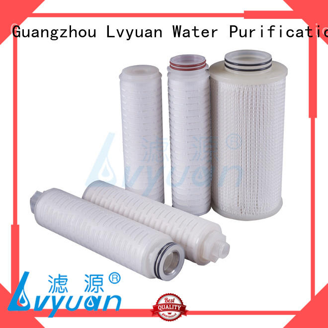 Lvyuan pvdf pleated water filter cartridge latest for diagnostics