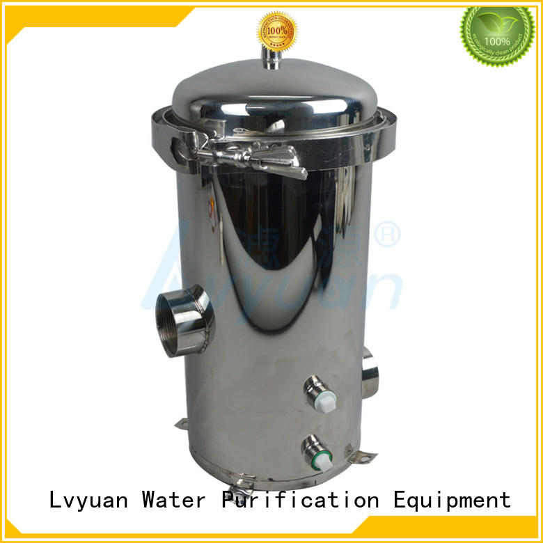 Lvyuan titanium stainless water filter housing manufacturer for oil fuel